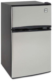Avanti Counter-Height 3.1 Cu. Ft. Two-Door Refrigerator/Freezer,  Black/Stainless Steel