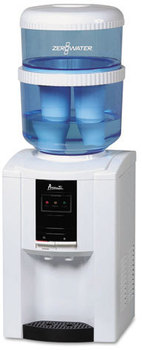 Avanti ZeroWater Dispenser with Filtering Bottle,  5 gal, Clear/White/Blue