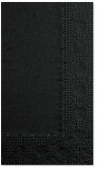 Hoffmaster® Regal 2-Ply Dinner Napkins. 15 X 17 in. Black. 1000 count.