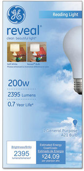 GE Incandescent Globe Light Bulb,  200 Watts
