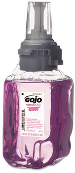 Picture of item 670-797 a GOJO® Antibacterial Foam Hand Wash,  Plum Scent, 700mL Refill, 4/Carton