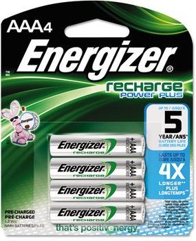 Picture of item EVE-NH12BP4 a Energizer® NiMH Rechargeable Batteries,  AAA, 4 Batteries/Pack