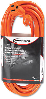 Picture of item IVR-72225 a Innovera® Indoor/Outdoor Extension Cord,  25ft, Orange