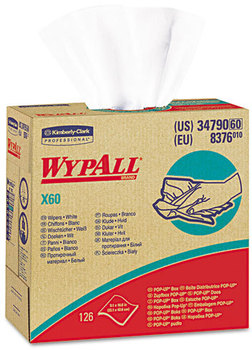 WypAll* X60 Wipers,  HYDROKNIT, 9 1/8 x 16 4/5, 126/Box