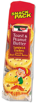 Picture of item KEB-21167 a Keebler® Sandwich Crackers,  Peanut Butter, 8 Cracker Snack Pack, 12/Box
