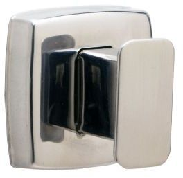 Picture of item 972-493 a Single Robe Hook.  Satin Stainless Steel Finish.