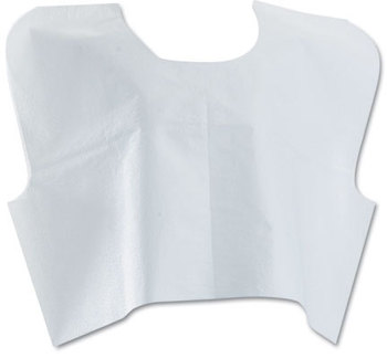 Picture of item MII-NON24248 a Medline Disposable Patient Capes,  3-Ply T/P/T, White 100/Carton