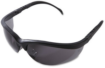 Picture of item CRW-KD112 a Crews® Klondike® Safety Glasses,  Matte Black Frame, Gray Lens