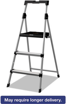 Louisville® Black & Decker Aluminum Step Stool,  250lb cap, 20w x 31 spread x 47h