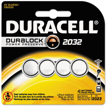 Duracell® Medical Battery,  3V, 2032, 4/Pk