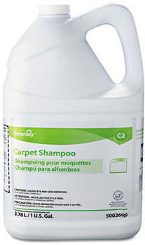 Diversey™ Carpet Shampoo,  Floral, 1gal Bottle, 4 Bottles/Carton
