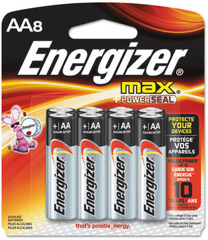 Picture of item EVE-E91MP8 a Energizer® MAX® Alkaline Batteries,  AA, 8 Batteries/Pack