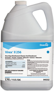 Picture of item DVO-04332 a Diversey™ Virex® II 256 One-Step Disinfectant Cleaner Deodorant,  1 gal, 4 Bottles/CT