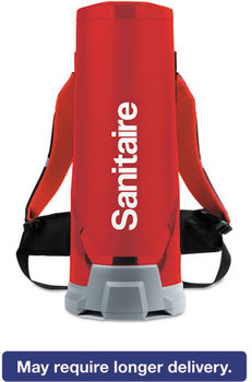 Sanitaire® Quiet Clean® HEPA Backpack Vac,  10 qt, Red
