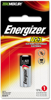Picture of item EVE-A23BPZ a Energizer® Mercury-Free Watch/Electronic/Specialty Battery,  Alkaline, A23, 12V, MercFree