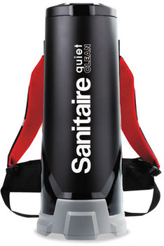Sanitaire® Quiet Clean® HEPA Backpack Vac, 10qt, Black