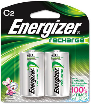 Picture of item EVE-NH35BP2 a Energizer® NiMH Rechargeable Batteries,  C, 2 Batteries/Pack
