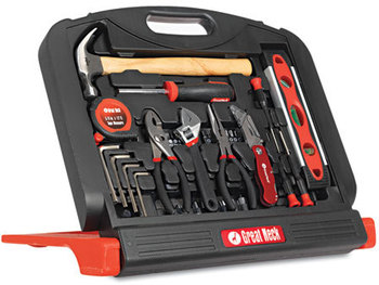 Great Neck® 48-Tool Set in Blow-Molded Case,  Black