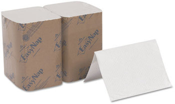 Georgia Pacific® Professional EasyNap® Embossed Dispenser Napkins,  2Ply, 6 1/2x9 7/8, White, 500/Pk, 6 Pack/Ctn