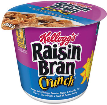 Kellogg's® Good Food to Go!™ Breakfast Cereal,  Raisin Bran Crunch, Single-Serve 2.8oz Cup, 6/Box