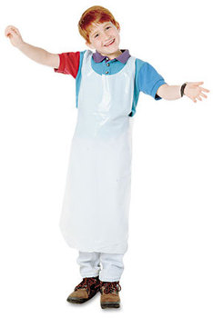 Picture of item BAU-64620 a Baumgartens Children's Disposable Apron,  Polypropylene, White, 100/Pack