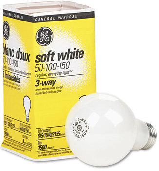 GE Incandescent Globe Light Bulb,  50/100/150 Watts