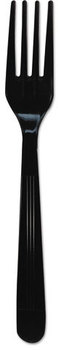 "GEN Heavyweight Cutlery,  Forks, 7"", Polypropylene, Black, 1000/Carton"