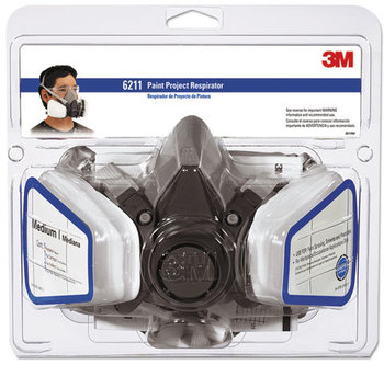 Picture of item MMM-6211PA1A a 3M Half Facepiece Paint Spray/Pesticide Respirator,  Medium