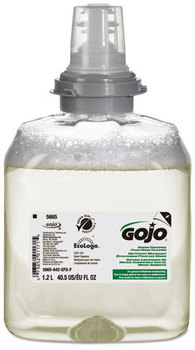 GOJO® Green Certified Foam Hand Cleaner Refills for GOJO® TFX™ Dispensers.  1200 mL. Unscented. 2/Case.