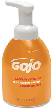 Picture of item 970-603 a GOJO® Luxury Foam Antibacterial Handwash. 18 oz. Orange Blossom scent. 4 Refills/Case.