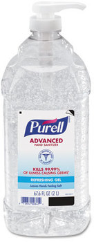 PURELL® Advanced Hand Sanitizer Gel in Economy Size Pump Bottle.  2 L. 4 Bottles/Case.