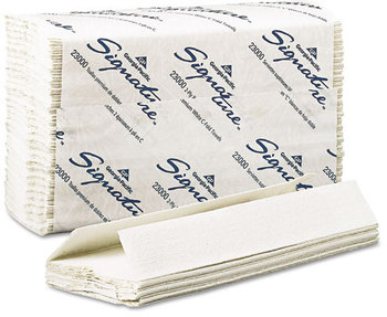 Picture of item 869-100 a Signature® 2-Ply Premium C-Fold Paper Towel. 10.1 X 13.2 in. White. 1440 towels.