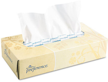 Picture of item 886-100 a Georgia Pacific® Professional preference® Facial Tissue,  Flat Box, 100 Sheets/Box, 30 Boxes/Carton