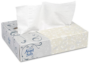 Picture of item 969-955 a Georgia Pacific® Professional Angel Soft ps® Facial Tissue,  White, 50 Sheets/Box, 60 Boxes/Carton