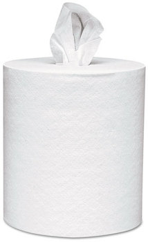 Picture of item 874-414 a Scott® Center-Pull Towels,  8 x 15, White, 500 Sheets/Roll, 4 Rolls/Carton