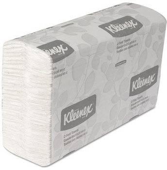 Picture of item 869-302 a Kleenex C Fold Paper Towels. 10.125 X 13.15 in. White. 2400 towels.