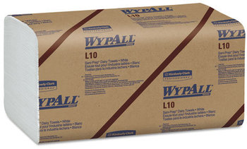 WypAll* L10 SANI-PREP* Dairy Towels,  10 1/2 x 9 3/10, 200/Pack, 12 Packs/Carton