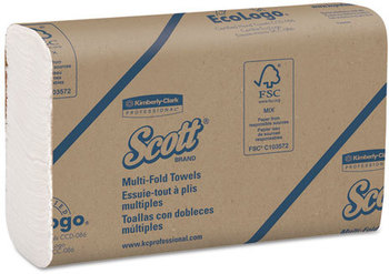 Picture of item 869-303 a SCOTT* Multi-Fold Towels. 9.2 X 9.4 in. White. 4000 towels.