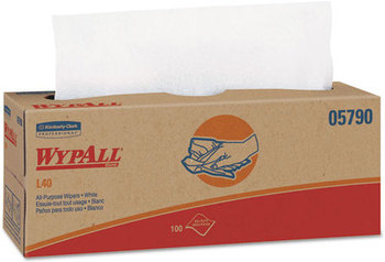 Picture of item 874-405 a WypAll* L40 Wipers,  16 2/5 x 9 4/5, 100/Box, 9 Boxes/Carton