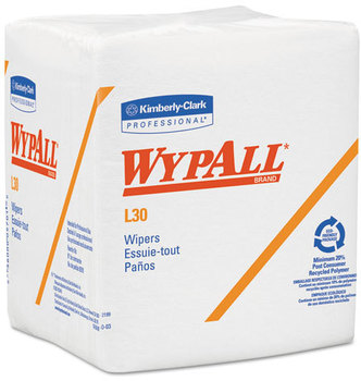 Picture of item 874-407 a WypAll* L30 Wipers,  12 1/2 x 12, 90/Box, 12 Boxes/Carton