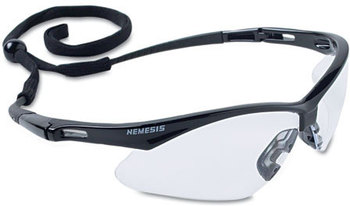 Picture of item KCC-25676 a Jackson Safety* Nemesis Safety Eyewear,  Black Frame, Clear Lens