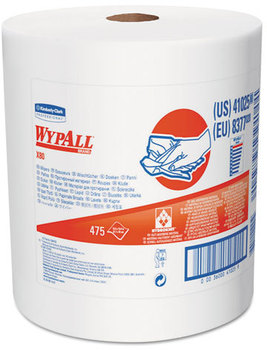 Picture of item KCC-41025 a WypAll* X80 Shop Towels 41025,  Jumbo Roll, 12 1/2w x 13.4l, White