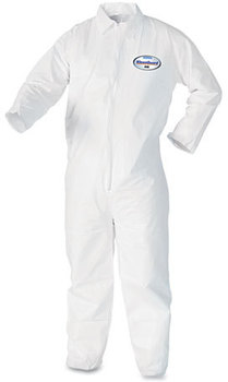 KleenGuard™ A40 Coveralls with Zipper Front. X-Large. White. 25/case.