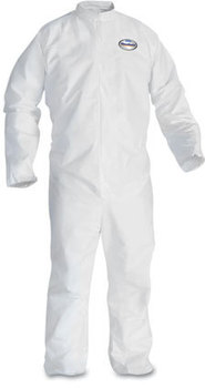 KleenGuard™ A30 Breathable Splash and Particle Protection Coveralls with Elastic Back and Zipper Front. Size X-Large. White. 25/Case.