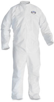 KleenGuard™ A30 Breathable Splash and Particle Protection Coveralls with Elastic Back and Zipper Front. Size 2X-Large. White. 25/Case.