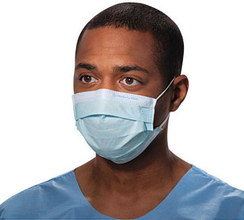 Picture of item KIM-47080 a Kimberly-Clark Professional* Procedure Mask,  Pleat-Style w/Ear Loops, Blue, 500/Carton