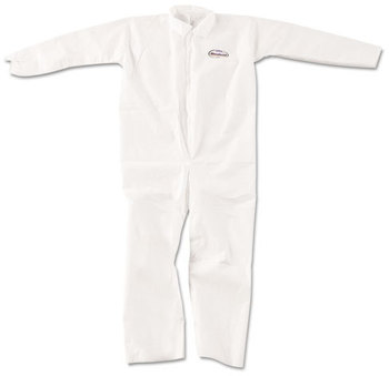 KleenGuard™ A20 Breathable Particle Protection Coveralls with Zipper Front. Size X-Large. White. 24/Carton.
