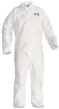 KleenGuard™ A20 Breathable Particle Protection Coveralls with Zipper Front. Size 3X-Large. White. 20/Carton.