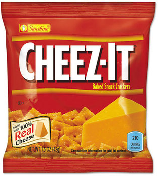 Picture of item KEB-122264 a Sunshine® Cheez-it® Crackers,  1.5 oz Bag, Reduced Fat, 60/Carton