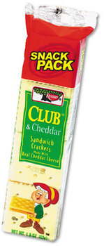 Picture of item KEB-21163 a Keebler® Sandwich Crackers,  Club & Cheddar, 8 Cracker Snack Pack, 12/Box